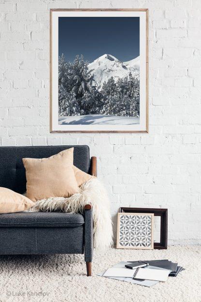 Winter mountain print