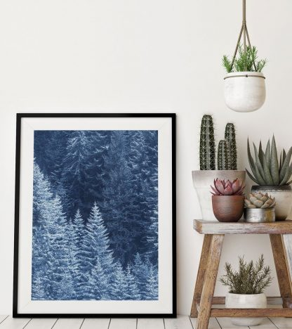 Snow Trees, landscape print, winter photography