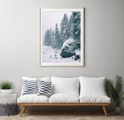 Snow landscape print