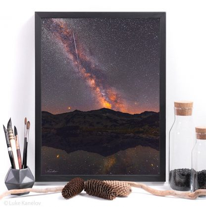 night photography print milky way