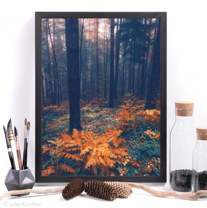 Moody forest print