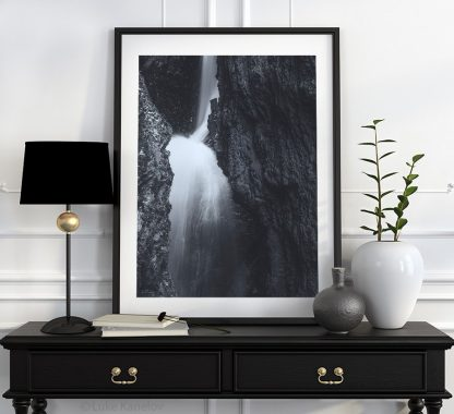 Back and white waterfall landscape