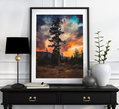Dramatic sunset landscape
