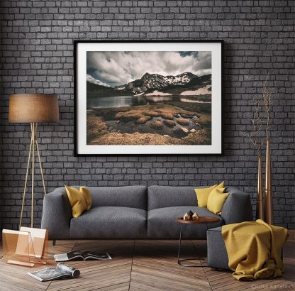 Mountain lake landscape print