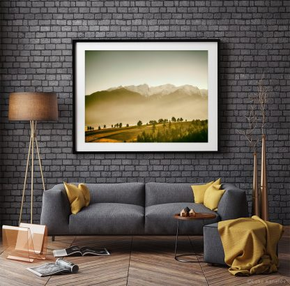Sunset mountain print