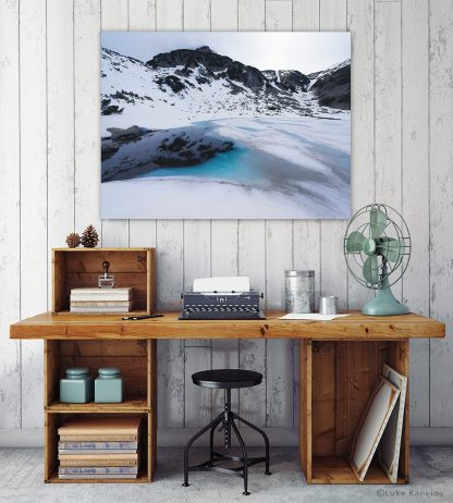 Ice lake landscape photography