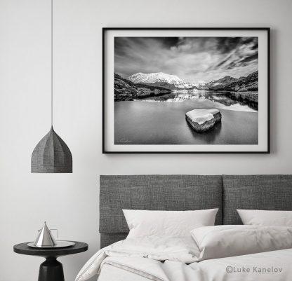 Frozen mountain lake photography