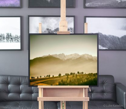 Sunset mountain print – Framed Canvas