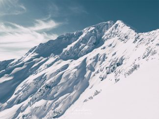 Snow covered mountain peak