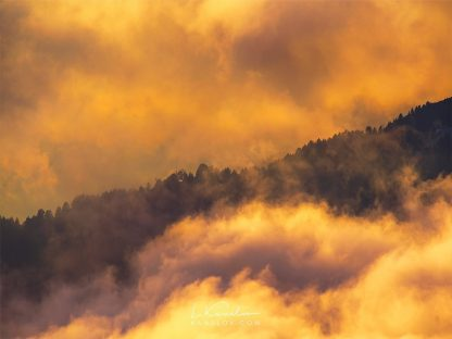 Colorful clouds photography prints