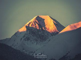 Mountain peak at sunrise