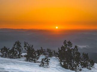 Mountain sunrise photography