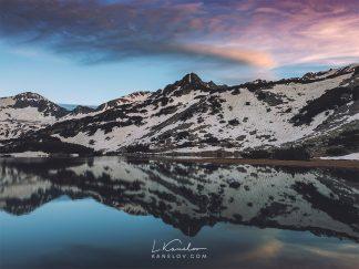Mountain lake colorful reflection