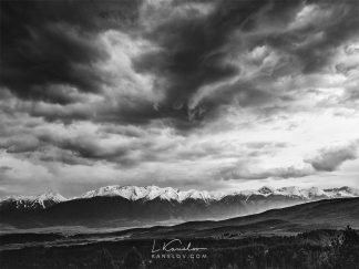 Black and white landscape print