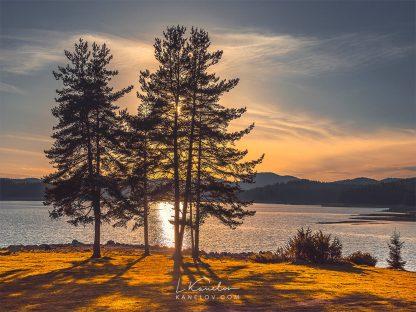 Lake sunset landscape photography