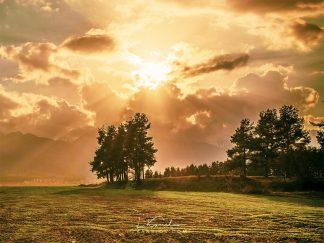 Sunset landscape print