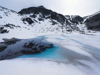 Ice lake landscape photography