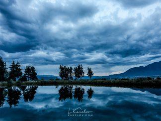 Blue lake print