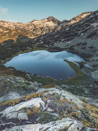Alpine mountain lake landscape