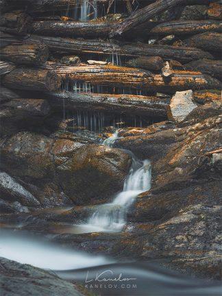 Old waterfall print