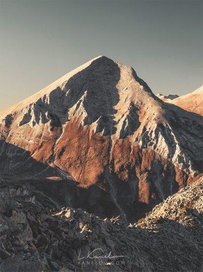 Marble mountain peak in Autumn colors