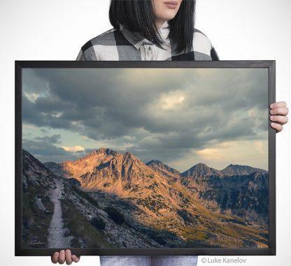 Beautiful mountain scenery print