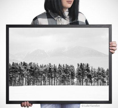 Snow landscape photography print