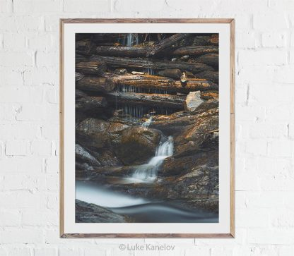 Old waterfall print