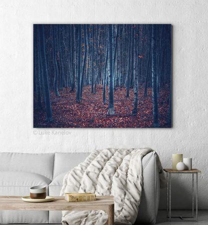 Dark forest print