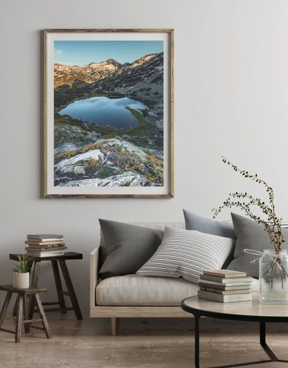 Alpine mountain lake landscape