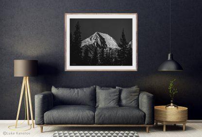 Mountain print black and white