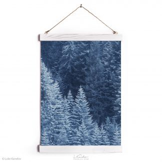 Snow Trees landscape wall hanging