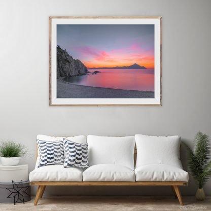 Sunset Print, Ocean Scenery