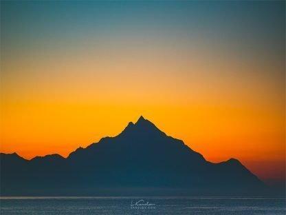Sunset Mountain Print